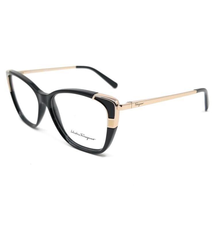 Salvatore Ferragamo Eyeglasses SF2811 001 Black Rectangle Women 54x14x140