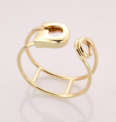 14k safety pin ring (free ring sizing) Handmade in USA