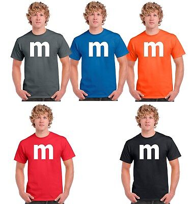 M candy T-shirt Halloween Costume cosplay chocolate group & family M Shirts - Group Family Costumes