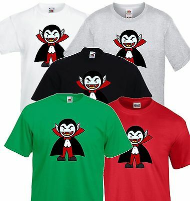 Evil Cartoon Vampire, Dracula, Halloween Party T shirt Men Ladies