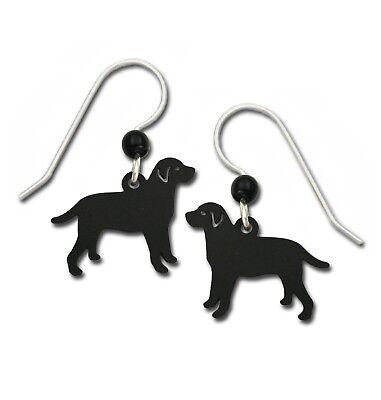 Sienna Sky Black Lab Earrings Labrador Retriever Dog Hand Painted Handmade USA