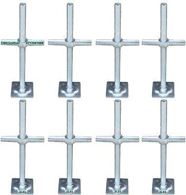 8 New Scaffold 24 Galvanized Screw Jack With Base Plate Cbmscaffoldcom