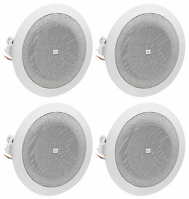 4 Jbl 8124 4 Full Range Commercial 70v100v 6w Ceiling Speakers 4 Restaurant