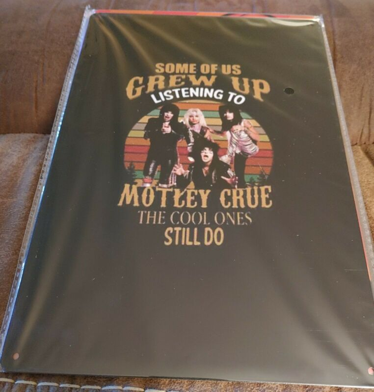 Motley Crue Rock Band Poster Style Wall Sign New
