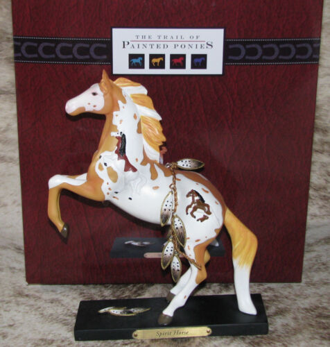 TRAIL OF PAINTED PONIES Spirit Horse 1E/2645~with Story Card~Good Luck Symbol~
