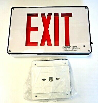 Isolite Max 2.0 Series Wet Location Led One-sided Exit Sign Nib