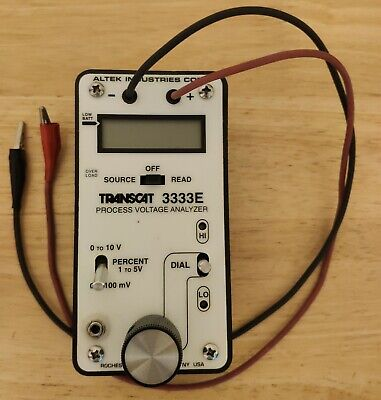 Altek Transcat 3333e Loop Calibrator Process Voltage Analyzer Tested