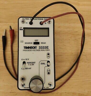 Altek Transcat 3333e Loop Calibrator Process Voltage Analyzer Tested