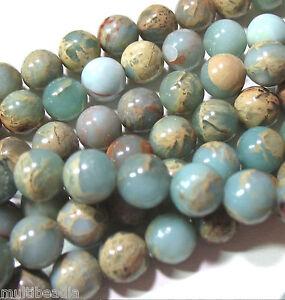 Aqua Terra African Opal 8mm Round Beads 16