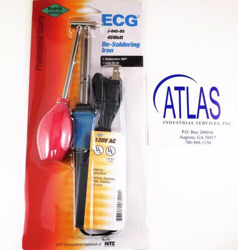 NTE ECG J-045-DS 45 WATT ELECTRIC CORDED DESOLDERING IRON