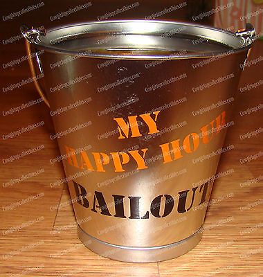 Happy Hour Metal Bucket Bank (Bailout! Banks by Westland, 11359) Bar Tip Cup