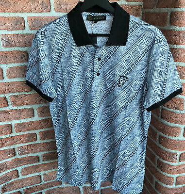 Versace Collection VS42  Polo T-shirt  Men's Cotton Italy Gray Size M