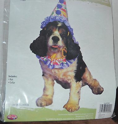 Fun World Clown Dog or Cat Costume Dress-up Fits most small Dogs 10