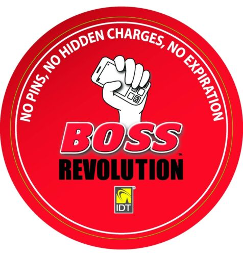 BOSS REVOLUTION $20 INTERNATIONAL LONG DISTANCE CALL CREDIT NEW CLIENTS ONLY
