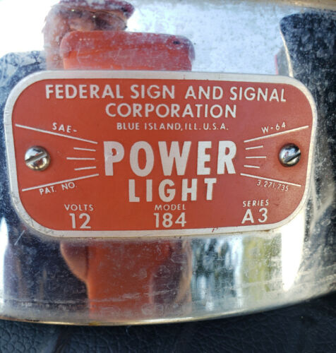 FEDERAL SIGNAL Model 184 Series A3 POWER LIGHT, Working