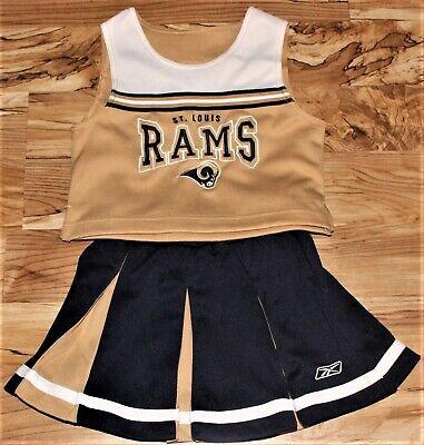 NFL Rams Football Cheerleader Child Costume Sz 5 6 Medium Reebok LA St. - Nfl Cheerleader Kostüm