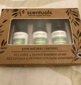 Scentuals recover and repair essential oil set
