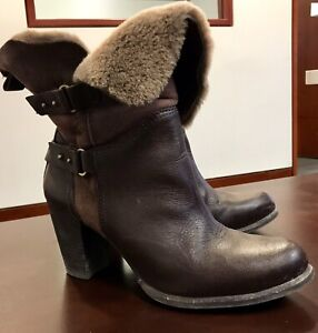 UGGS Leather and Fur Boots - 10 / 41 Women