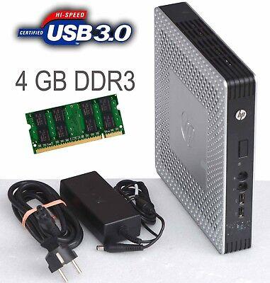 MINI PC HP T610 TPC-W006-TC 4GB DDR3 RAM USB 3.0 696455-001 160 GB HDD + NT #T63 Mini 160 Gb Usb