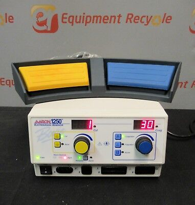 Aaron 1250 A1250 High Frequency Electrosurgical Generator Footswitch Bovie