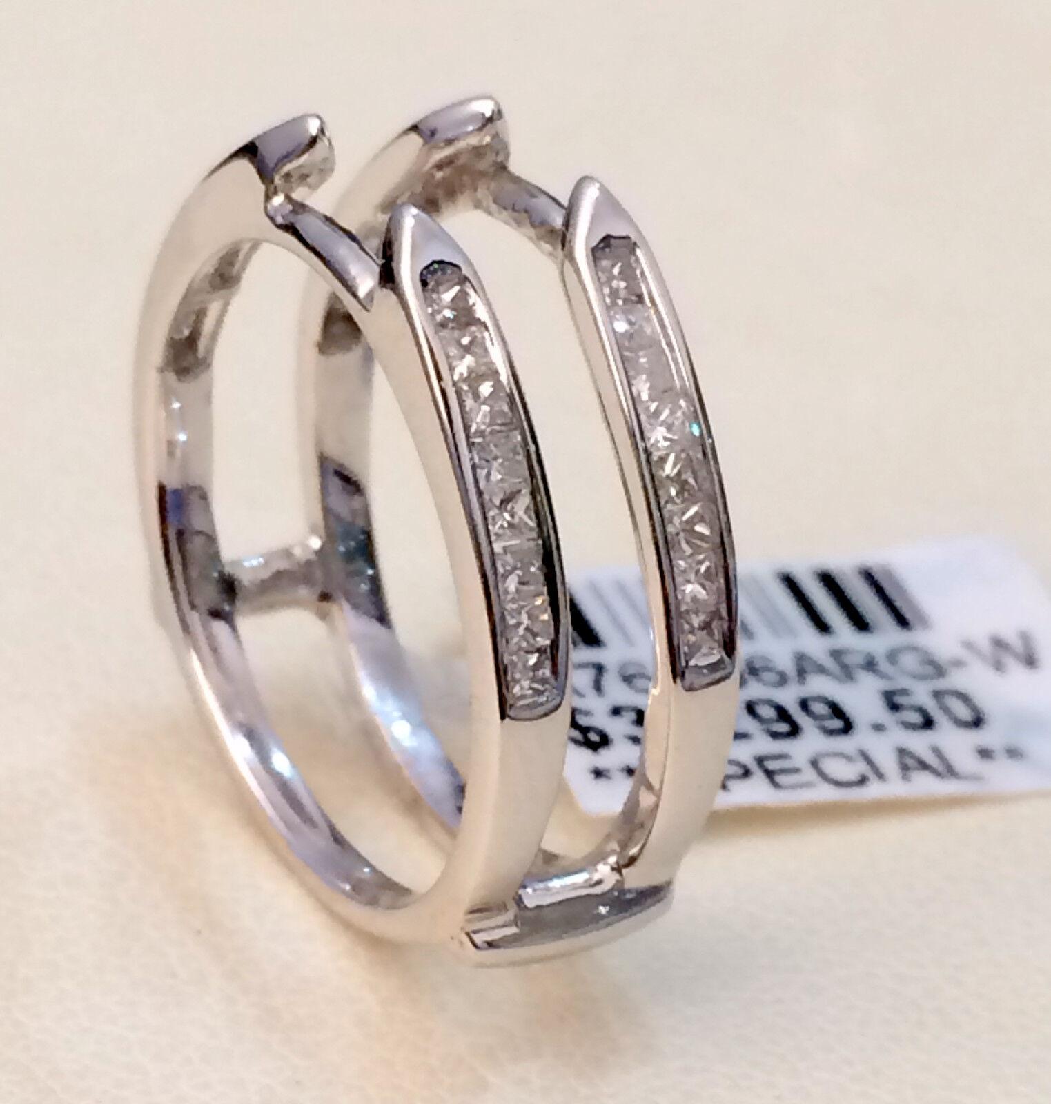 princess cut 0 40ct cathedral ring diamonds guard