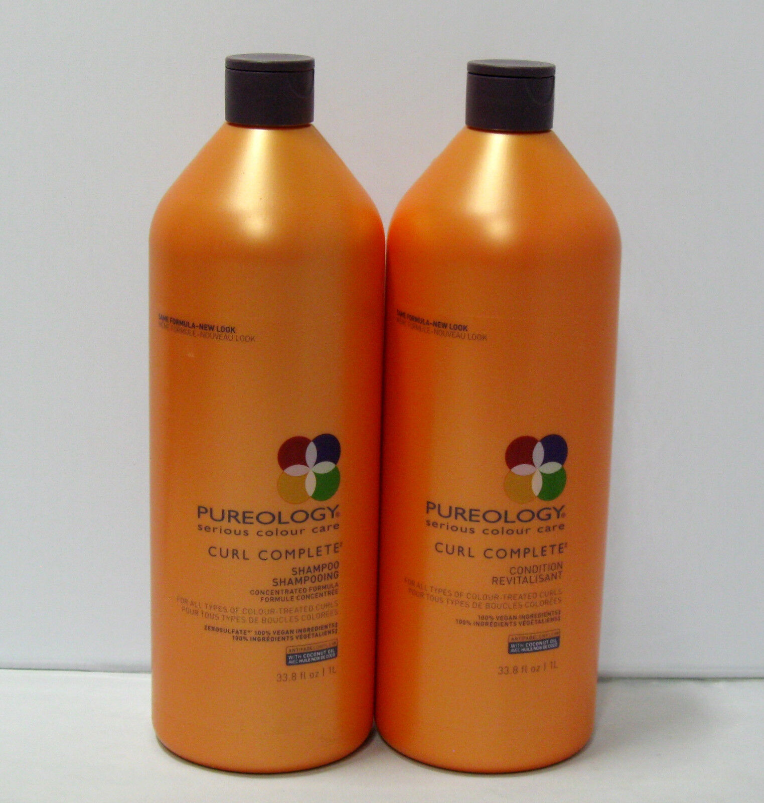 Pureology Curl Complete Shampoo and Conditioner 33.8 oz Liter Set Duo PACK