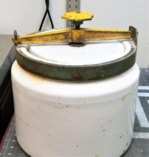 Vintage Ceramic Ball Mill Grinding Jar / Crock Size #3 3.3 gal / 12.4 L [D3S4]#6