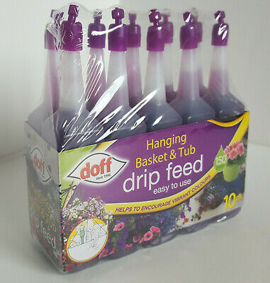 Hanging Basket & Tub Drip Doff Feed Fertiliser Easy to Use 10pk Lasts 150 Days