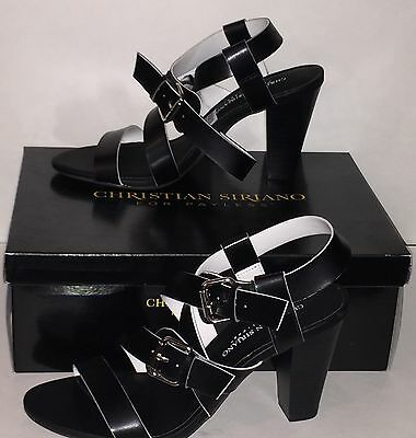 Christian Siriano For Payless Womens  Rex  Strappy Heels Black Size 7 New Boxed
