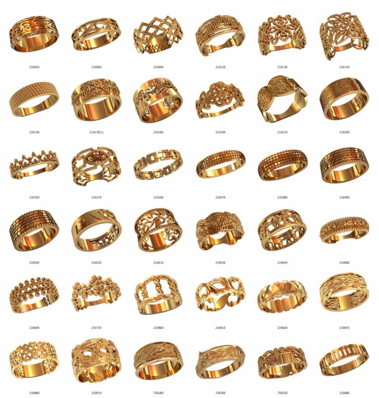 set of WAX PATTERNS (#w21) for Lost Wax Casting silver or gold Jewelry (36pcs)