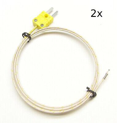 K-type Thermocouple Wire Sensor Digital Thermometer Probe Fiberglass Pk-400 2pc