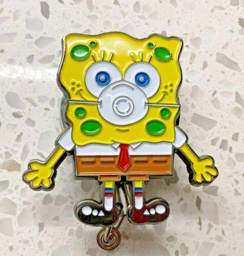 Spongebob Square Pants inspired Face Mask ID Holder Retractable METAL REEL