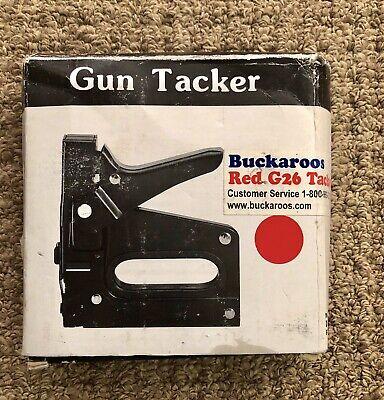 Buckaroos Red G26 Tacker Staple Gun