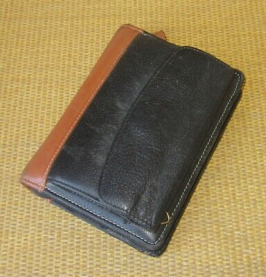Pocket Franklin Coveyquest Blackbrown Leather 1 Rings Zip Plannerbinder