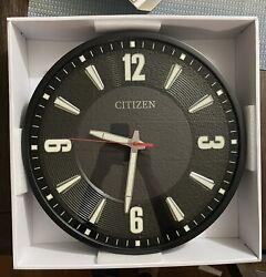 BRAND NEW 16.5  Citizen Gallery Black Wall Clock! CC2012