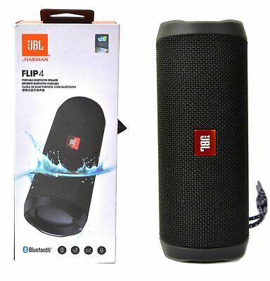 JBL Flip 4 Portable Waterproof Wireless Bluetooth Stereo Speaker - Black