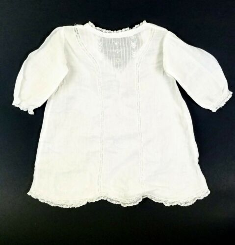 Antique Handmade Dutch Christening Gown Baptism Baby Religious Ceremony Dress