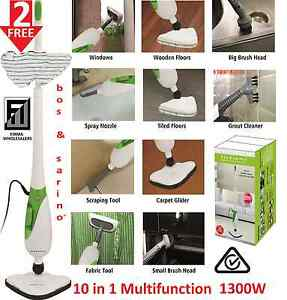 BOS & SARINO 10 in 1 Steam Mop Floor Carpet Kitchen Showr Cleaner Southport Gold Coast City Preview