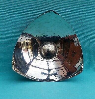 Stunning Handbeaten Keswick KSIA metal sunburst design triangular dish