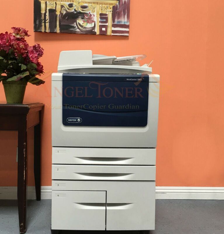 Xerox Workcentre 5865 Multi Function Mono Laser Printer Copier Scanner Fax 65ppm
