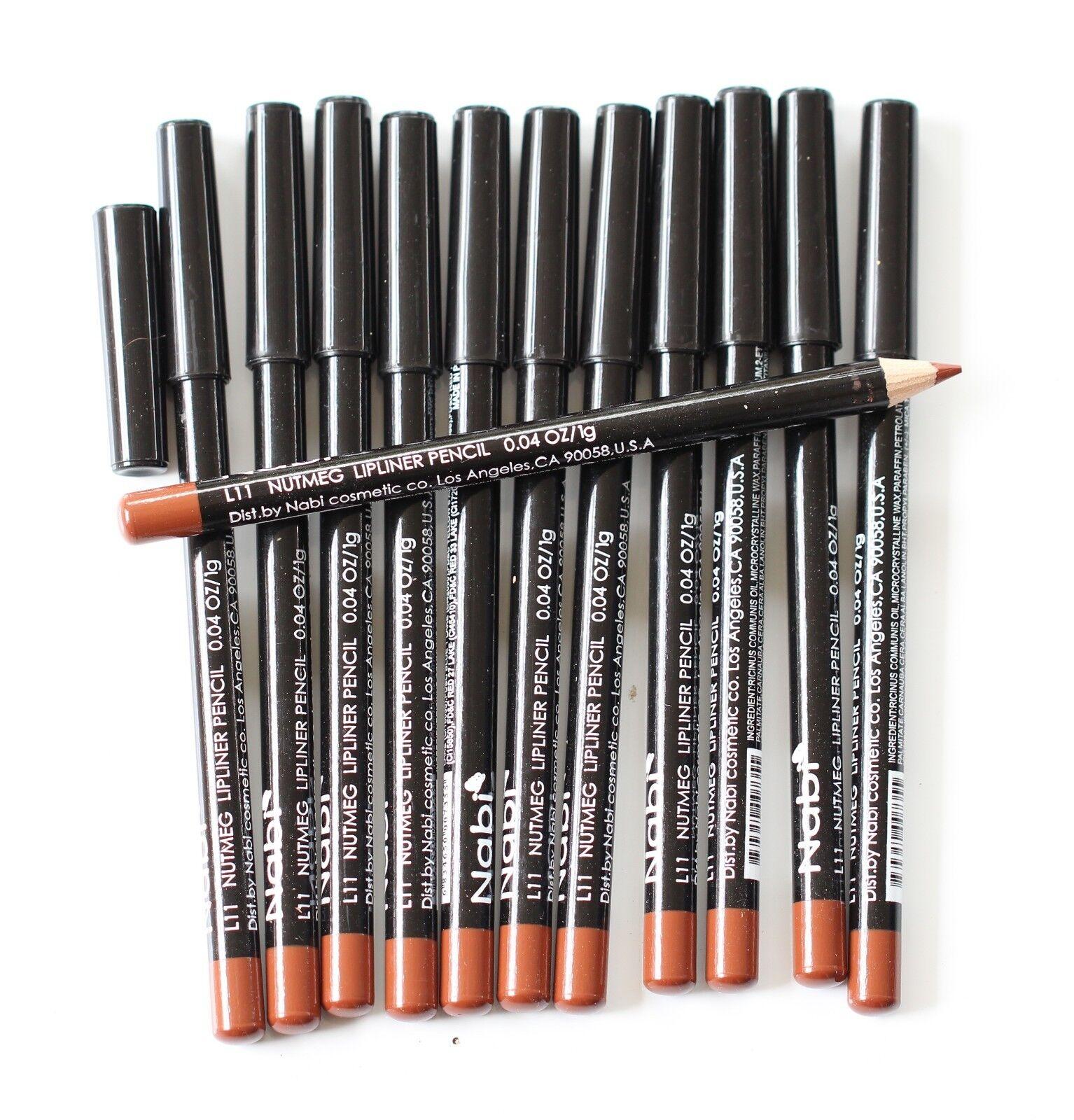 12 pcs NABI L11 NUTMEG Lip Liner Lipliner Pencil