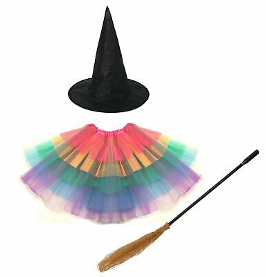 Toddler Witch Costume Uk (HALLOWEEN MISS WITCH Deluxe Girls Toddler Fancy Dress Costume Outfit)