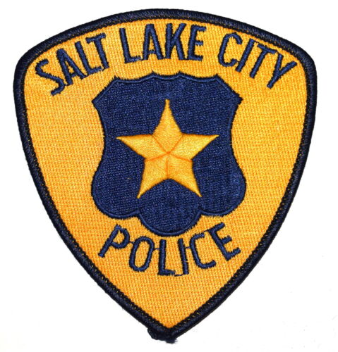 SALT LAKE CITY UTAH UT Police Sheriff Patch SHIELD STAR VINTAGE OLD ~