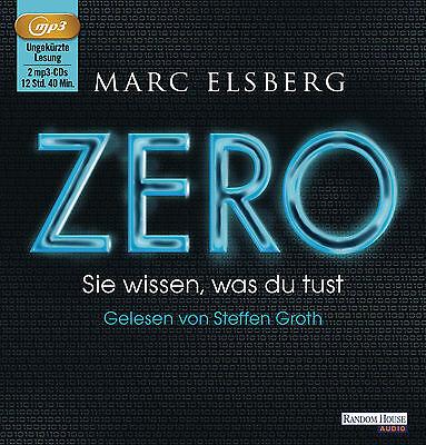 Elsberg Marc  ZERO Sie wissen was du tust MP3 HörBuch NEU Ungekürzte Lesung (Sie Mp3)