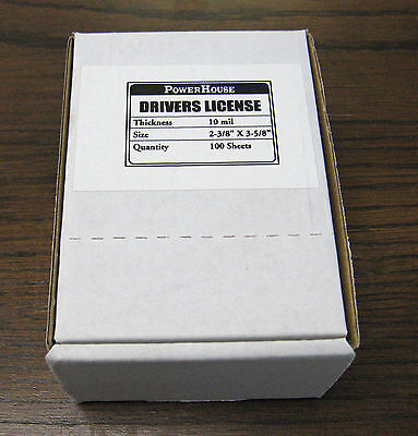 Drivers License Laminating Pouches 10ml 2 38 X 3 58 Thermal Laminating Paper