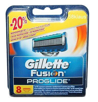 8 Gillette Fusion Proglide Rasierklingen in OVP  8 Stück Klingen Ersatzklingen