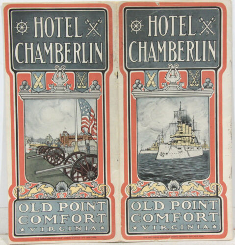 Promotional Brochure for the Hotel Chamberlain at Old Point Comfort VA c1900