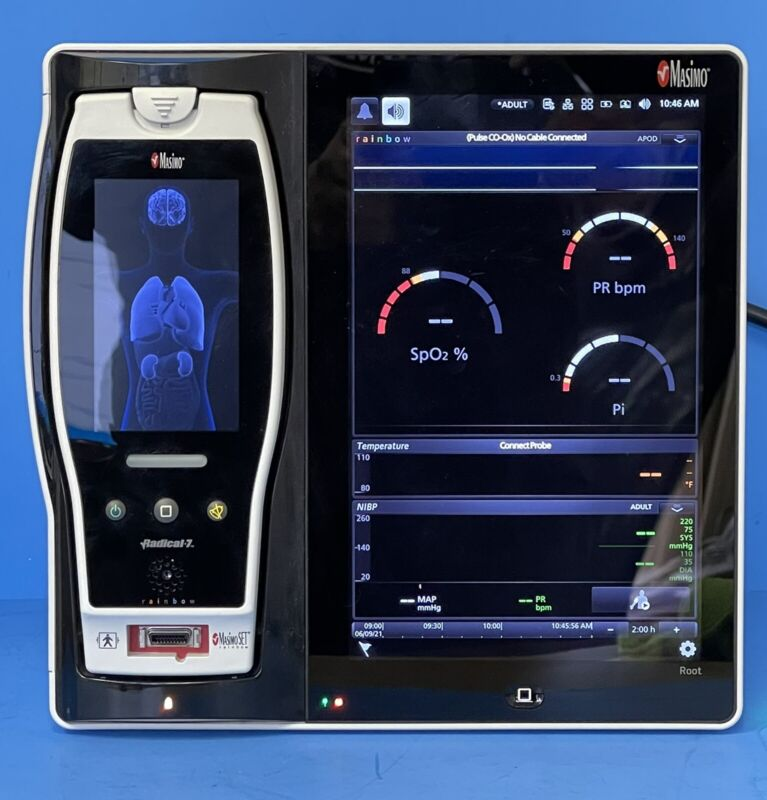 Masimo Root Patient Monitor RDS7A with Rainbow Radical 7 SpO2