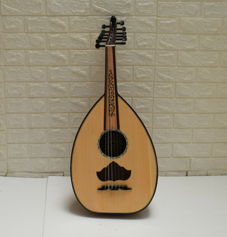 Egyptian Arabic Oud Musical Instrument, Ebony Wood keys, Mother of Pearl Inlay-4