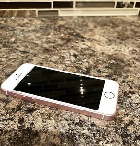 Rose gold iPhone 5 SE unlocked with otterbox